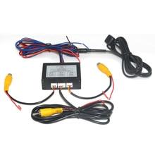 자동차 주차 카메라 비디오 채널 컨버터 자동 스위치 전면/보기 측면/후면보기 후면보기 카메라 비디오 컨트롤 박스 수동