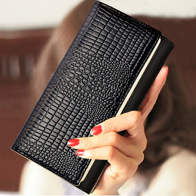 womens wallets and purses Leather Long Standard with phone Z