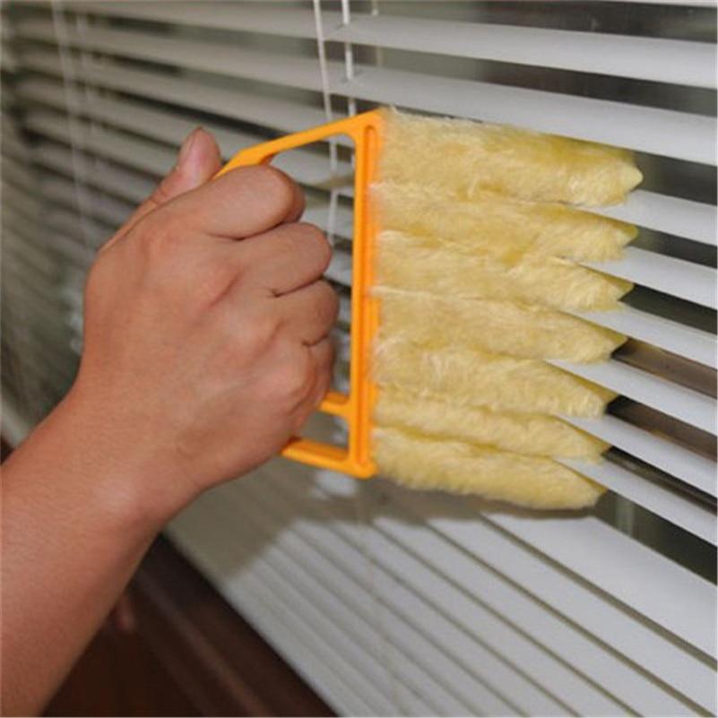Blind Window Cleaning Brush Microfibre Venetian Blind Blade Window Duster Clean Hand Held Brush Households Cleaner