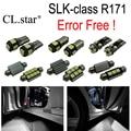 18 pc X Erro Free LED interior dome lâmpada luz Kit pacote Para Mercedes Benz classe SLK R171 SLK300 SLK350 SLK55 AMG (2004-2010)