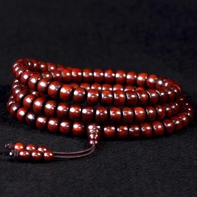 Известный бренд Индийский браслет с бусинами из красного сандалового дерева ручной работы из красного сандалового дерева