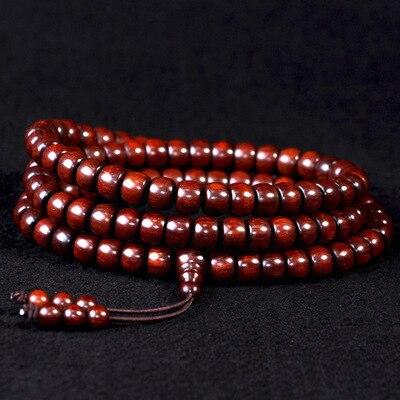 famous brand India lobular red sandalwood beads bracelet red sandalwood hand on high-density oil недорго, оригинальная цена