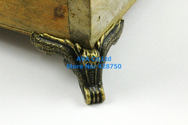4 Pieces Antique Brass Jewelry Box Feet Animal Box Leg 42x32mmin