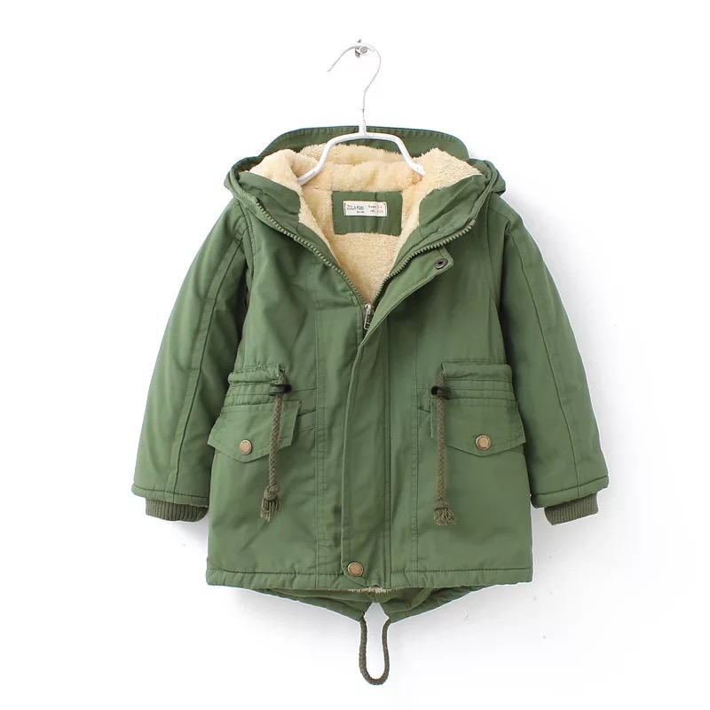 New winter children down & parkas 2-9Y European style boys girls warm outerwear color green blue hooded coats for girls 6