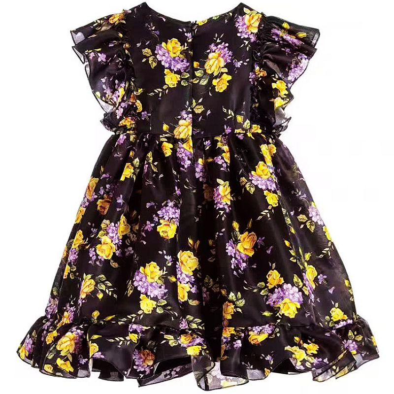 Girls Summer Dress Toddler Clothes 2017 Brand Robe Fille Children Costume Princess Long Dress Floral Kids Dresses  hssczl girls dress summer 2017 brand kids print floral sleeveless toddler girl children dress flowers fille costume clothes