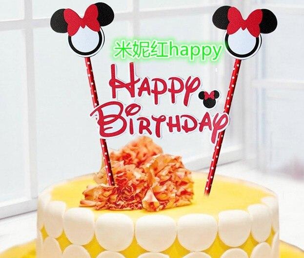 10setslot Disny Mickey Minnie Kitty Doraemon Happy Birthday Party