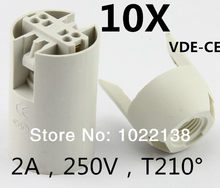 10pcs/ lot E14 Lamp Holder-Led Socket Adapter-1*10 E14 Screw Edison Converter Free Shipping With Tracking No.(China)