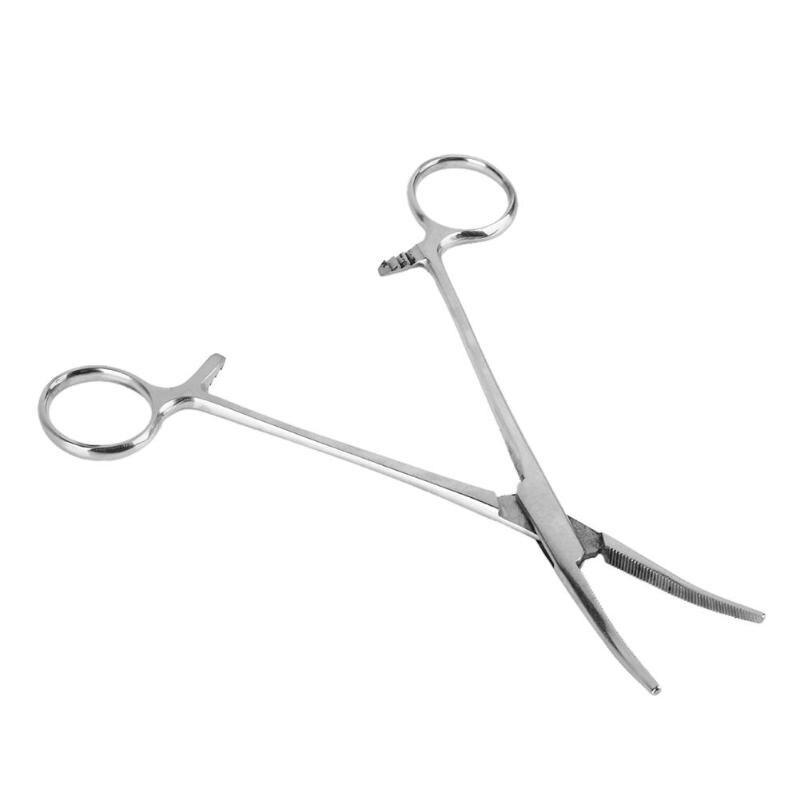 Neue 5 fischer Hemostat Locking Schellen Zange Edelstahl Gebogene Spitze Zangen Handwerkzeuge