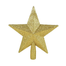 Red/Yellow Christmas Tree Top Decorations Stars For Home House Table Topper Decor Accessories Ornament Xmas Decorative Supplies