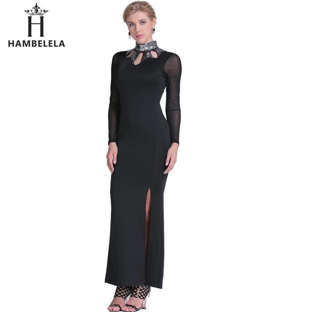 HAMBELELA 2017 Brand Design Frauen Schwarz Langarm Kleid Sexy ...