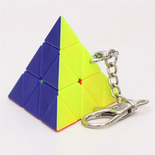 Zcube Key Chain Mini 3x3 Magic Cube Creative Cube Hang Decorations - Colorful mini finger magic cube key chain