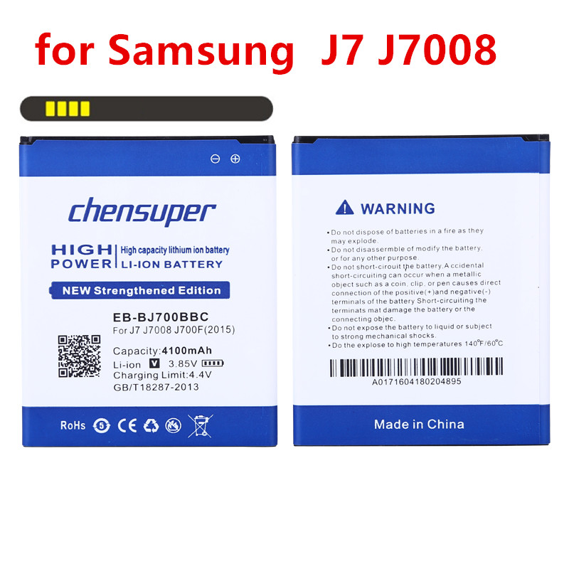 Nouveau 4100 mAh EB-BJ700BBC téléphone utilisation De La Batterie pour Samsung GALAXY J7 J7008 J700F SM-J7008 J7000 J700 ON7 G6000 batterie