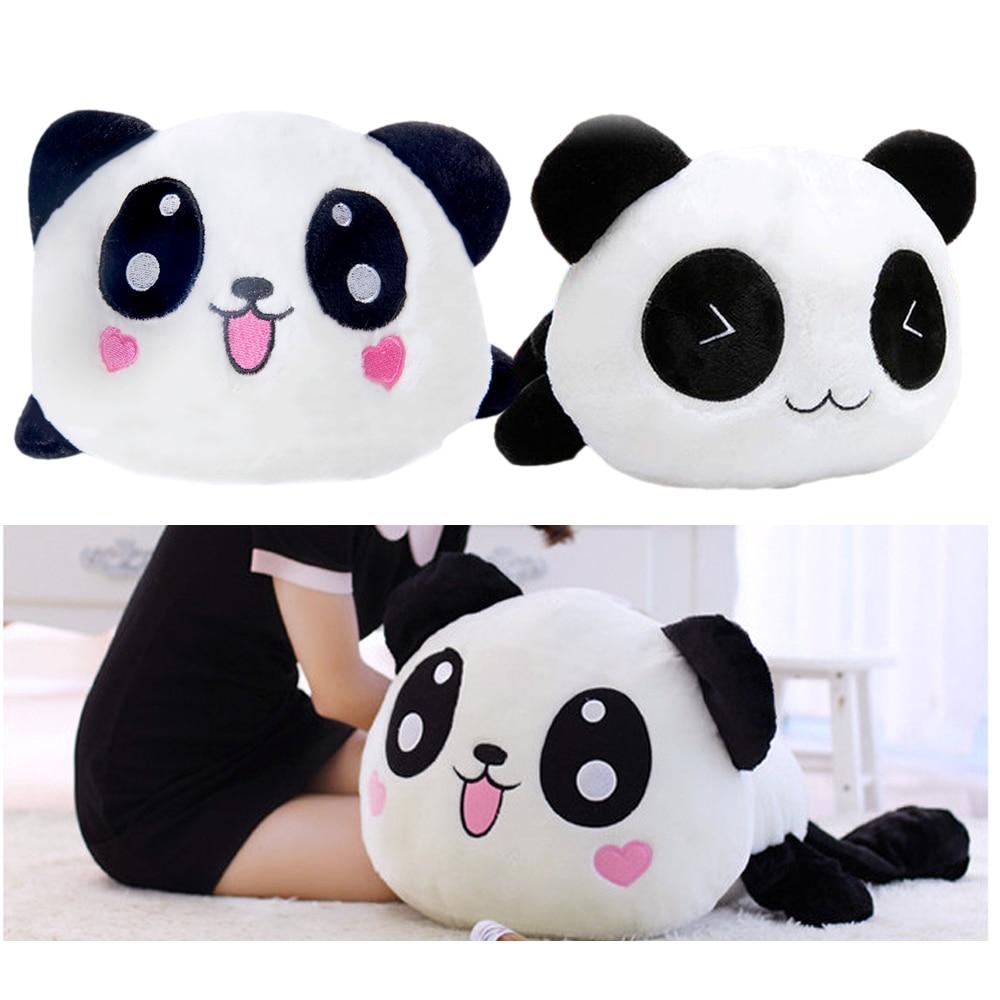 25cm Kawaii Big Head Cartoon Plush Toys Stuffed Lying Animal Panda Doll Bolster Pillow Toy Cushion Bolster Gift Kids Home Decor toy story bunny toys