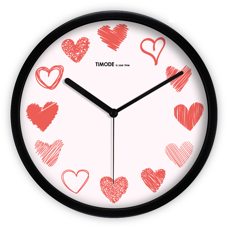 Black And White Digital Novelty Wall Clock Love Wandklok Klokken De Parede Duvar Kloki Silent Wall Clock Modern Design DDN339
