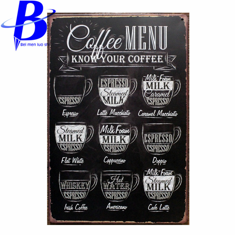 Tin Sign metal art poster home decor House Cafe Vintage Bar signs  Wall Decor Retro Metal Art Poster  Mix order 20*30CM