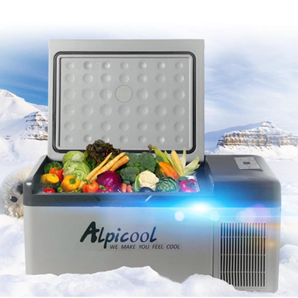 Alpicool Portable APP Conrtol Mini Compressor Fridges 15L Portable Mini Portable Car Refrigerator Cold / Warm Dual Use DC12V/24V(China)