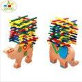 Elefante camello equilibrio entre padres e hijos juego de bloques de color palo de juego de los niños de educación juguete divertido de los niños juguetes