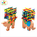 Elephant camel balance parent-child game color stick game children education  toy funny children's blocks toys