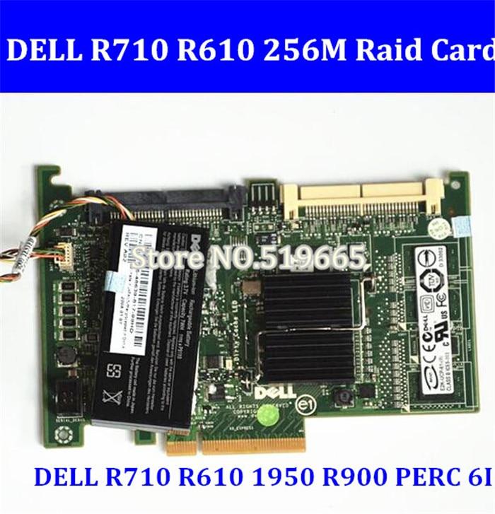 Pci-e com 256 Ram para Dell Alta Qualidade R900 Perc 6i Raid Cartão Controlador m Bateria R710 R610 1950
