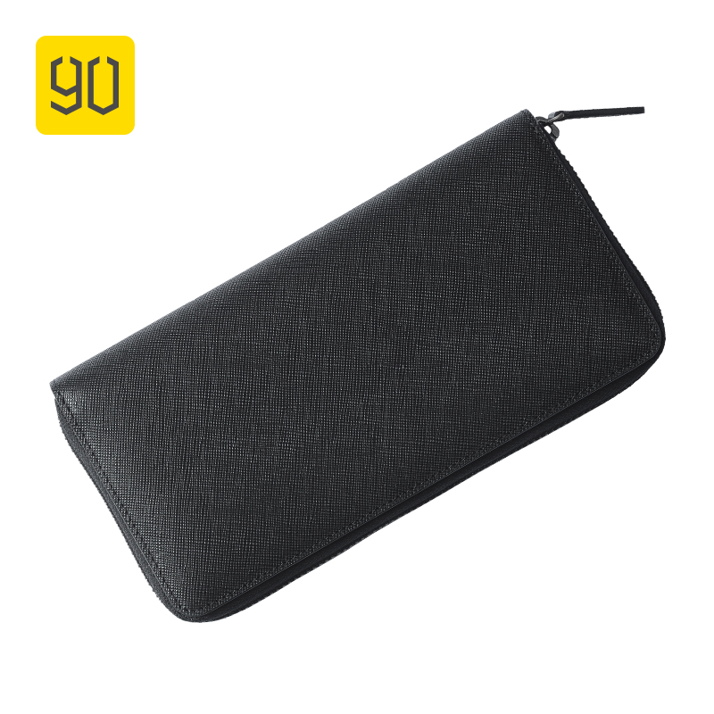 Xiaomi Eco-chain 90FUN Concise Business Casual  Long Wallet Safiano Genuine Leather for Man радиосистемы eco by volta u 2x 716 90 622 665