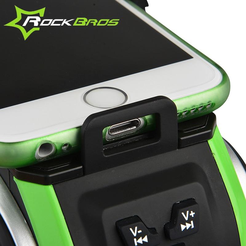 sports shoes 43962 7da15 US $52.99 |Hot ROCKBROS Waterproof Bluetooth Sensor Bicycle Digital Speaker  Charger Smart Phone Holder&Light 4400mAh Power Bank Bike E Bell-in Bicycle  ...