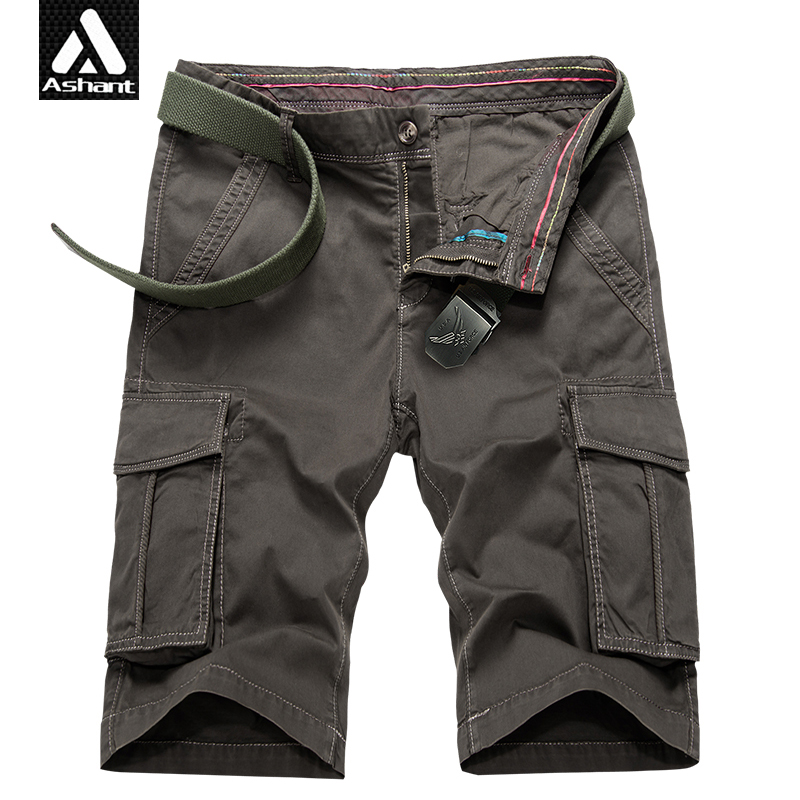 Men New Summer Cargo Shorts All Cotton Khaki Tactical Force Short Size 28 38 40 Man