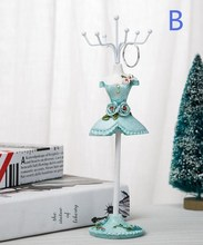 Bule sexy Ornament Creative princess Sequins mannequin Earring Necklace Stand Display Holder Ring storage jewelry rack 1pc C550