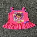 Retail 1 unids Envío gratis kids chicas ropa Doc McStuffins vestido de manga corta de dormir pijamas camisones vestido de desgaste
