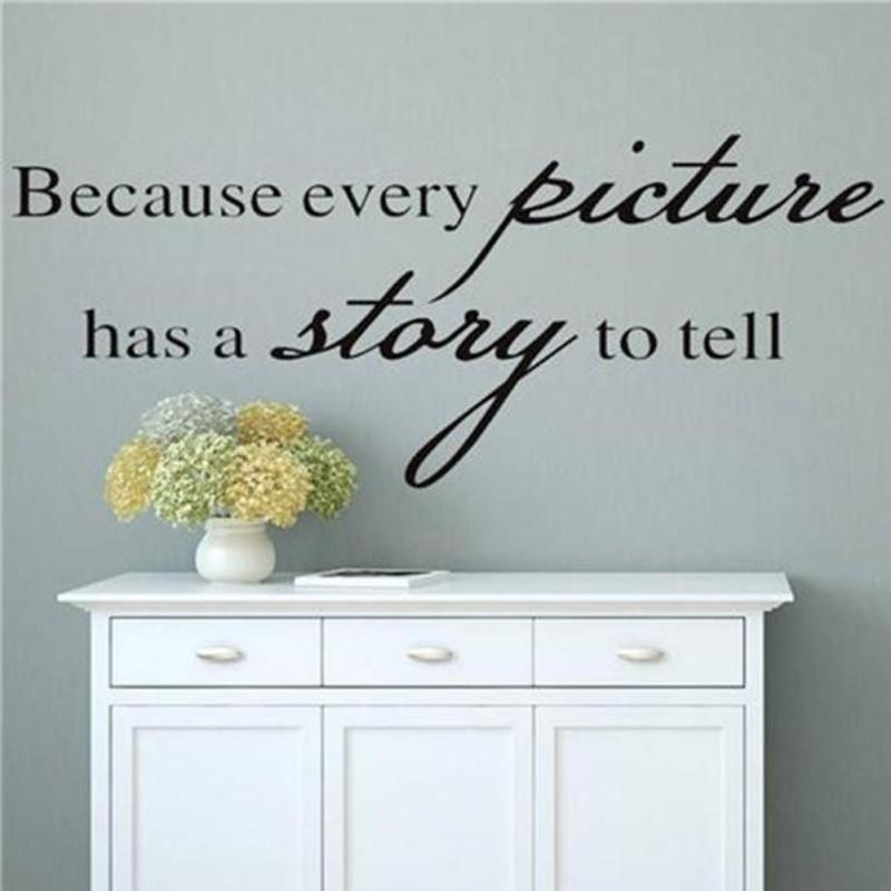 ''Because Every Picture Has A Story To Tell'' Wall Sticker art Decal Vinyl Removable Home Sticker Decor