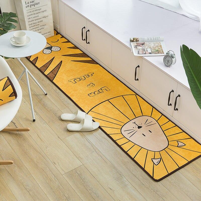 Tapis de sol animal de bande dessinée hall chambre tapis de sol salle de bain tapis tendance b