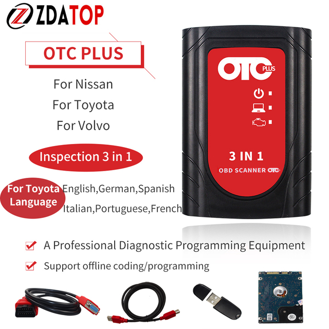 OTC Plus Diagnostic Tools Car Tool For Nissan Fortoyota Forvolvo Tester Forscan OBDScanner GTS HDD Better Than For Volvo Dice