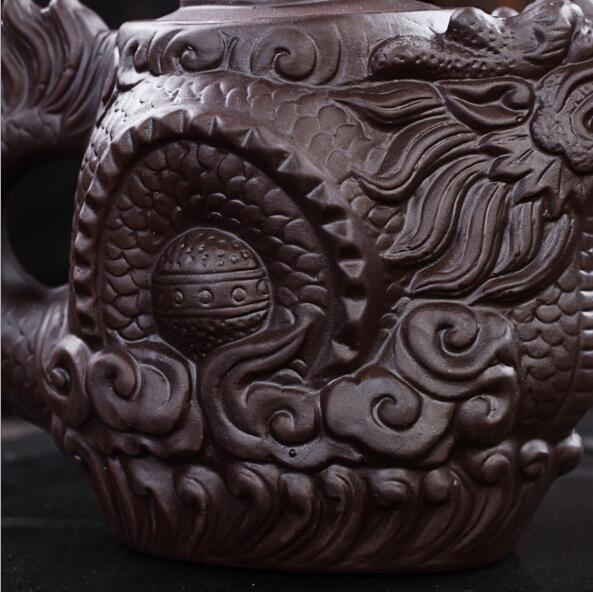 Authentic Yixing Purple Clay Dragon Teapot 3