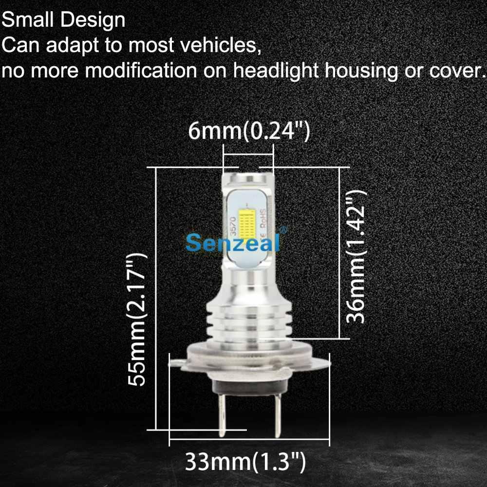 SENZEAL 2 шт супер яркие CSP 3570 H7 автомобильные противотуманные лампочки 72 Вт Автомобильные дневные ходовые огни 1000ЛМ 12-24 в светодиодный светодиоидные лампы автомобиля DRL