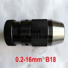Конус B18, 0,2-16 мм среднего размера Быстрозажимной сверлильный патрон, зажимной сверлильный патрон, Точность: менее 0,1 мм, инструмент для сверления
