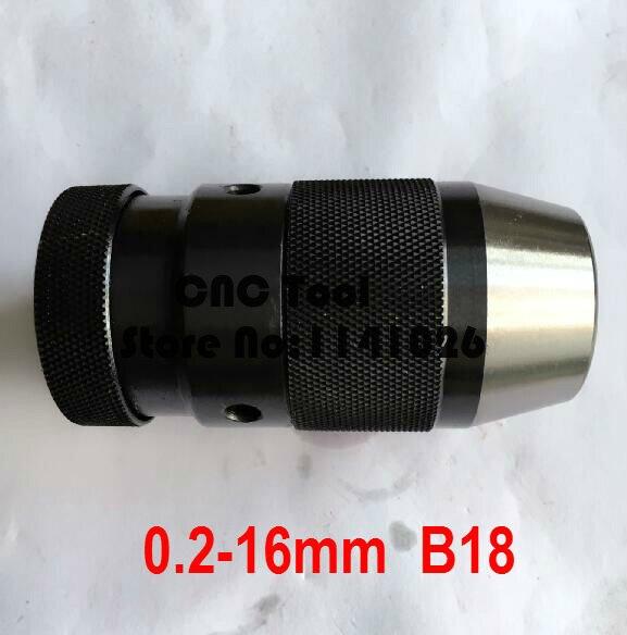 Taper B18, 0.2-16mm Medium-sized Keyless Drill Chuck Closefisted Drill Chuck, Accuracy: Less Than 0.1mm,Drill Clamp Tool