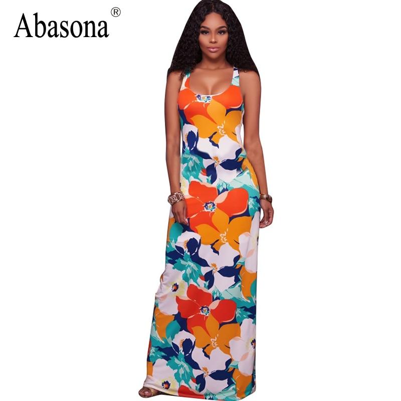 Jenny tropical print maxi dress