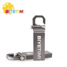 Biyetimi 32 GB USB Flash Drive 64 GB 16 GB Pen Drive di memoria del usb del bastone 8 GB 4 GB Pendrive in Acciaio inox USB 2.0 Flash Drive