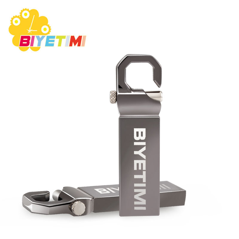 Biyetimi 32GB USB Flash Drive 64GB 16GB Pen Drive memoria usb stick 8GB 4GB Pendrive Stainless Steel USB 2.0 Flash Drive цена и фото