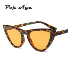 Pop Age 2018 High quality Cat Eye Sunglasses Women Brand Designer Retro Mirror Female Glasses Eyewear lentes Shades