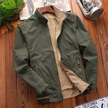 Jacket Men Solid Fashion Army Military Jackets Coat For Men Jaqueta Masculino Windbreakers Plus Size M-4XL Jacket Men