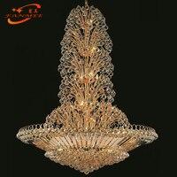 Traditional Crystal Chandelier Lighting LED K9 Crystal Hanging Lamp Decorative Light Golden Living Dining Room Chandeliers