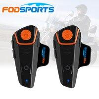 2 Pcs 1000M Waterproof Bluetooth Interphone Motorcycle Helmet Headset Intercom With FM Radio Bike To Bike