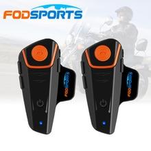 Фотография 2 pcs 1000M Waterproof  Bluetooth Interphone Motorcycle Helmet Headset Intercom with FM Radio Bike-to-bike Intercom stereo music
