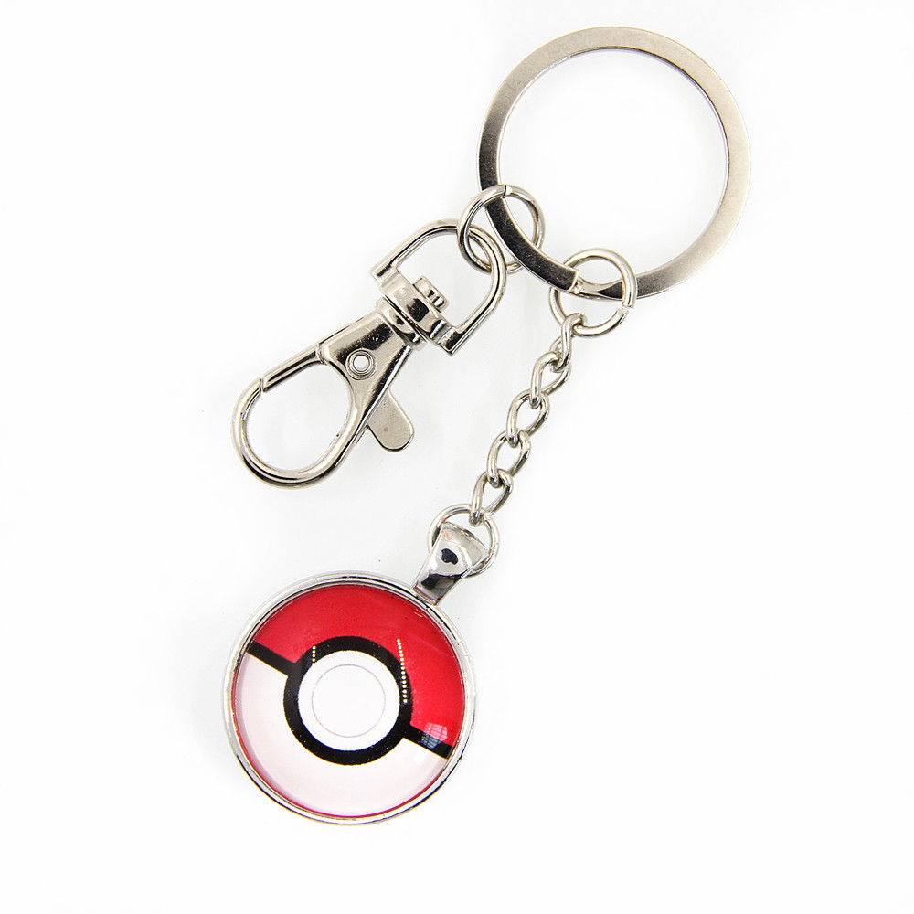 Popular Pokemon Go Pokemon Ball Pokeon Key Chain for Game Fans Collection Gift Wholesale