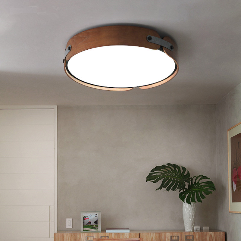 цена на Nordic Loft Wooden Led Ceiling Lamp Modern Creative Simply Kitchen Bedroom Ceiling Light Fixtures Free Shipping