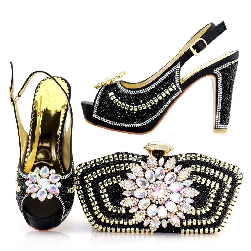 New Style 10.5cm high heels with clutch bag for Party Bridal shoes and bags to match BagNew Style 10.5cm high heels with clutch bag for Party Bridal shoes and bags to match Bag