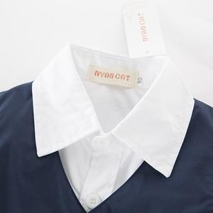 Image 5 - Yeni stil çocuk giyim setleri erkek giysileri erkek gömlek + yelek + pantolon 3 adet erkek beyefendi yelek çocuk giyim setleri 5 takım/grup