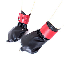 Locking Gloves Dog Paw Palm Leather Hand Glove Bondage Restraints Sex Toys For Couple Role Play Adult Game Slave Sex Products