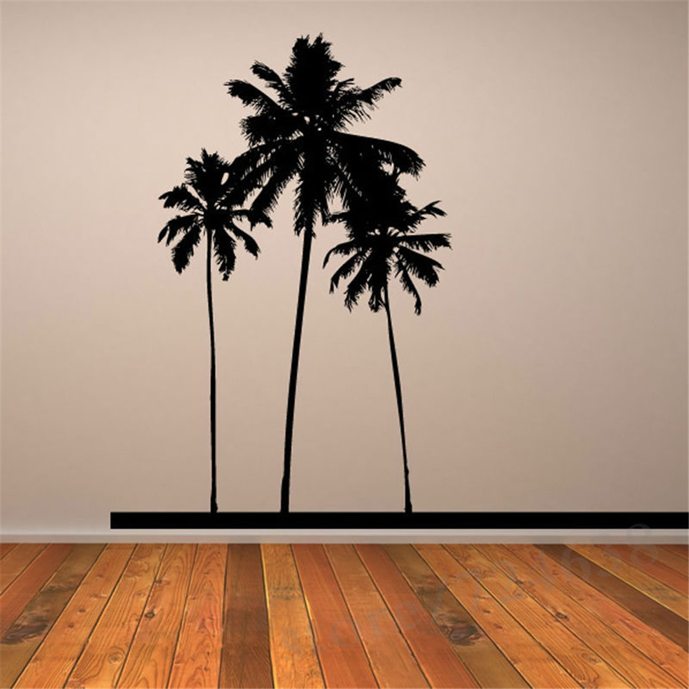 Popular pvc waterproof three black palm trees wall sticker home popular pvc waterproof three black palm trees wall sticker home decor for living room wallpapers for bedroom in wall stickers from home garden on amipublicfo Image collections