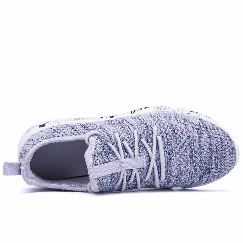 Ademend & Light Mannen Merk Fashion Sneakers Maat 39-46 Persoonlijkheid Ontwerp Man Lace-up Casual Schoenen